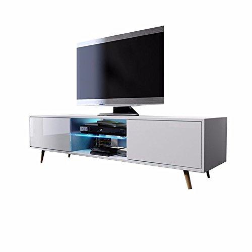 Tv Schrank Lowboard Sideboard Tisch Möbel Board Rivano mit LED - Beleuchtung