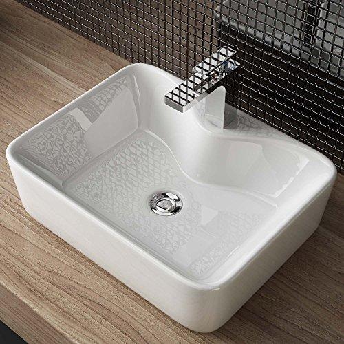 Waschbecken24 DESIGN KERAMIK AUFSATZ WASCHBECKEN WASCHTISCH HANDWASCHBECKEN BAD GÄSTE WC TOP A98