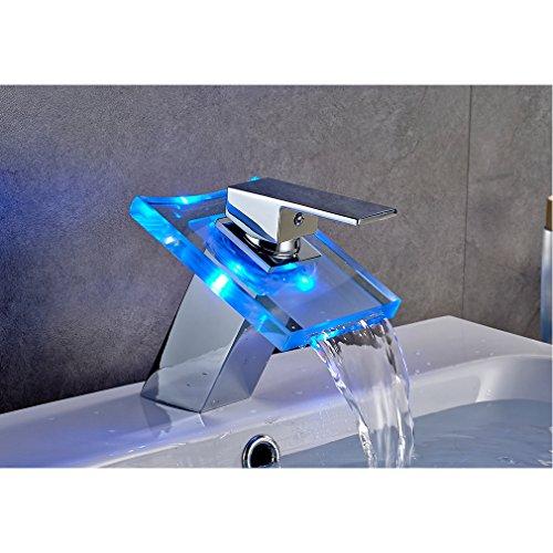 Wasserhahn Einhebel Elegant, Wasserfall, für Waschbecken