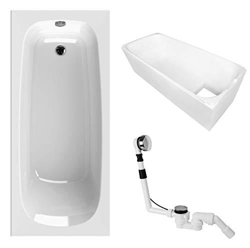 AquaSu 83038 6 Acryl-Wannenset Luxus, 170 x 75 cm, Weiß