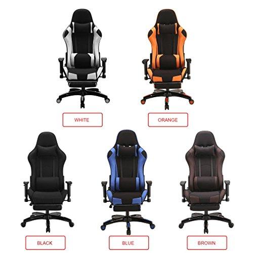 Blackpoolal XL Racing Bürostuhl Fernsehsessel Drehstuhl Gaming Stuhl mit fußstützen Höhenverstellung Massagesessel Relaxsessel Belastbar Chefsessel Schreibtischstuhl Turbo Stoff Gamingstuhl bis 150kg