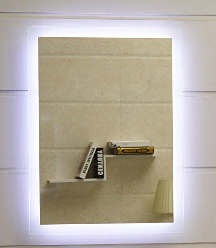 Dr. Fleischmann Badspiegel LED Spiegel GS084N mit Beleuchtung durch satinierte Lichtflächen Badezimmerspiegel