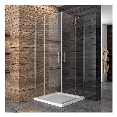 Dusche Duschkabine Duschabtrennung Eckeinstieg Duschtür Eckdusche Duschwand aus Sicherheitsglas