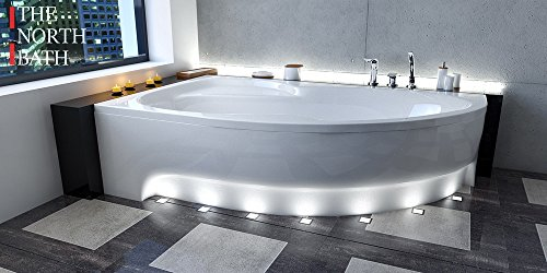 EXCLUSIVE LINE North Bath Alice Eckbadewanne Acryl 150x100; 160x100; 170x100 Ablauf TOP Qualität