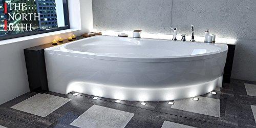 EXCLUSIVE LINE North Bath Alice Eckbadewanne Acryl 150x100; 160x100; 170x100 Ablauf TOP Qualität