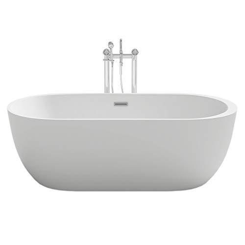 Home Deluxe - freistehende Design Badewanne - Codo - Maße: ca. 170 x 80 x 58 cm - Füllmenge: 204 Liter - Inkl. komplettem Zubehör