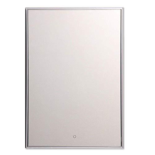 LEBENSwohnART KROLLMANN LED-Badspiegel TUBI 60x80cm Touch Sensor Wandspiegel mit Beleuchtung