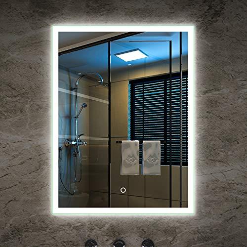 Tonffi® Badspiegel LED Spiegelleuchte 80x60CM Naturlweiß 30W 2100LM Touch-Schalter IP44 LED Wand Spiegel mit Beleuchtung 4000-4500K