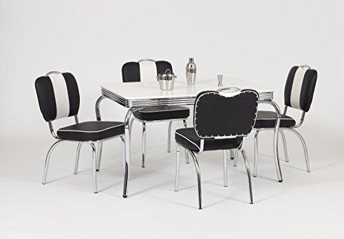 moebelstore24 Essgruppe Sitzgruppe American Diner Paul/King 1-50 er Jahre 5 teilig