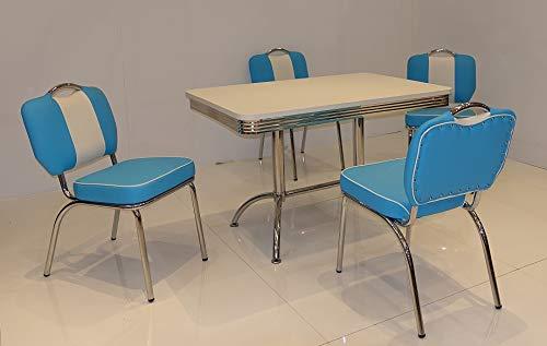 moebelstore24 Essgruppe Sitzgruppe American Diner Paul/King 4-50 er Jahre 5 teilig
