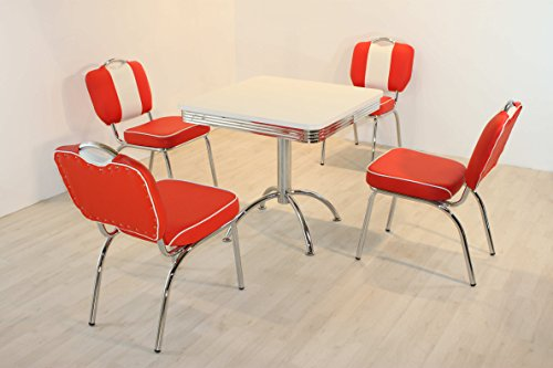 moebelstore24 Essgruppe Sitzgruppe American Diner Paul/King 5-50 er Jahre 5 teilig