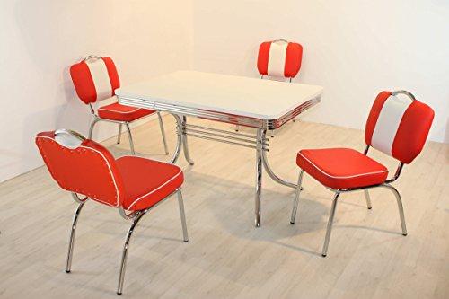 moebelstore24 Essgruppe Sitzgruppe American Diner Paul/King 6-50 er Jahre 5 teilig