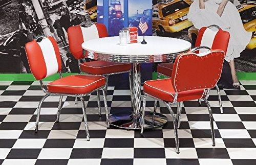 moebelstore24 Sitzgruppe American Diner Essgruppe Paul/King 2-50 er Jahre 5 teilig