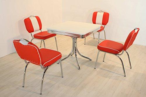 moebelstore24 Sitzgruppe American Diner Essgruppe Paul/King 7-50 er Jahre 5 teilig