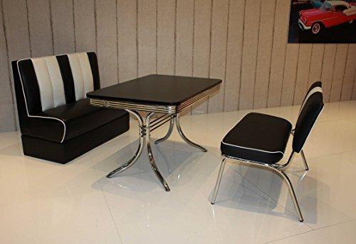 moebelstore24 Sitzgruppe American Diner Vegas/Paul/King 6-50er Jahre 3 Teilig