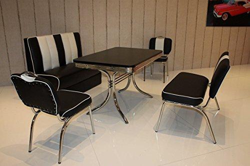 moebelstore24 Sitzgruppe Bistrotisch American Diner Vegas/Paul/King 6-50er Jahre