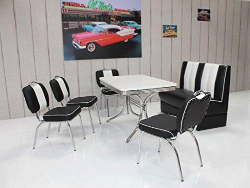 moebelstore24 Sitzgruppe Tischgruppe Bistrotisch American Diner Vegas/Paul / King 6-50 er Jahre