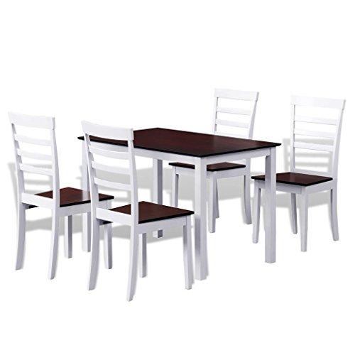 vidaXL Esstisch Set Essgruppe Sitzgruppe Massivholz Tisch Stühle Esszimmer Ausziehtisch