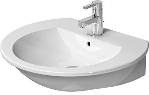 Duravit Waschbecken Darling New 650 mm, 1 Hahnloch, weiss WonderGliss, 26216500001