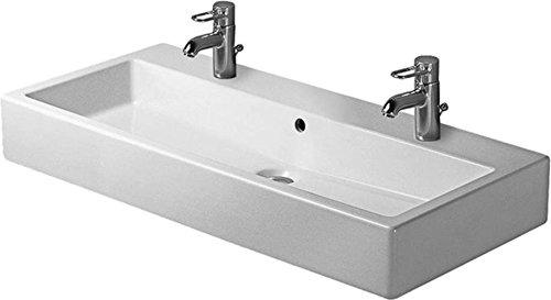 Duravit Waschbecken Vero Breite 100cm 2 Hahnlöcher, weiß 454100024, 454100024