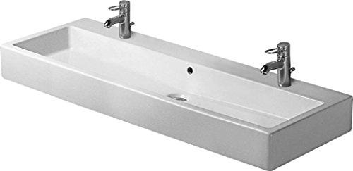 Duravit Waschbecken Vero Breite 120cm 2 Hahnlöcher, weiß, 454120024